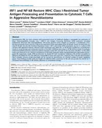 Plos One : Irf1 and Nf-kb Restore Mhc Cl... by Appel, Silke
