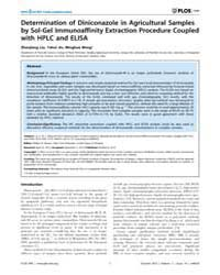 Plos One : Determination of Diniconazole... by Abrams, William R.