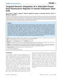 Plos One : Targeted Genomic Integration ... by Daadi, Marcel