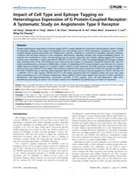 Plos One : Impact of Cell Type and Epito... by Seifert, Roland