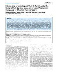 Plos One : Intimin and Invasin Export Th... by Skurnik, Mikael