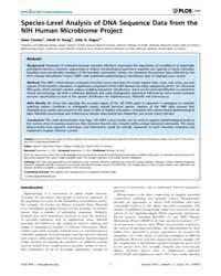 Plos One : Species-level Analysis of Dna... by Highlander, Sarah K.
