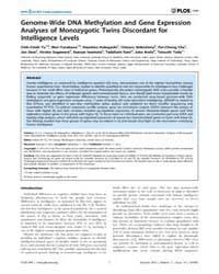 Plos One : Genome-wide Dna Methylation a... by Hu, Valerie W.