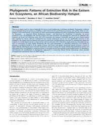 Plos One : Phylogenetic Patterns of Exti... by Lavergne, Sebastien