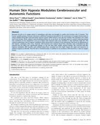 Plos One : Human Skin Hypoxia Modulates ... by Frasch, Martin Gerbert