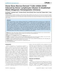 Plos One : Donor Bone Marrow-derived T C... by Kanellopoulos, Jean