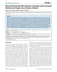 Plos One : Altered Nucleotide-microtubul... by George, Anthony