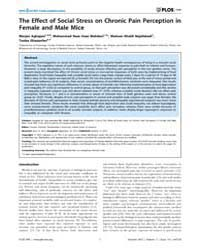 Plos One : the Effect of Social Stress o... by Ardehali, Hossein