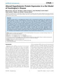 Plos One : Altered Hypothalamic Protein ... by Ferreira, Sergio T.
