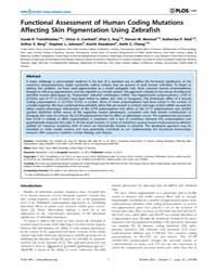 Plos One : Functional Assessment of Huma... by Riley, Bruce