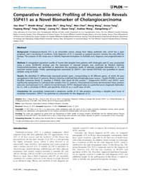 Plos One : Comparative Proteomic Profili... by Mulvenna, Jason