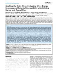 Plos One : Catching the Right Wave ; Eva... by Magar, Vanesa