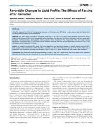 Plos One : Favorable Changes in Lipid Pr... by Uversky, Vladimir N.