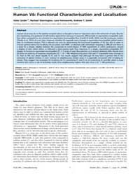 Plos One : Human V6 ; Functional Charact... by Yacoub, Essa