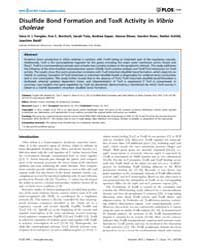 Plos One : Disulfide Bond Formation and ... by Hensel, Michael