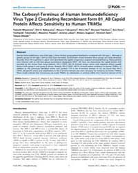 Plos One : the Carboxyl-terminus of Huma... by Brusic, Vladimir