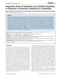 Plos One : Regulatory Roles of Cytokinin... by Baxter, Ivan