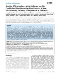 Plos One : Soluble St2 Associates with D... by Herder, Christian
