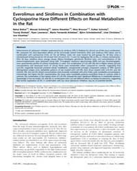 Plos One : Everolimus and Sirolimus in C... by Remuzzi, Giuseppe