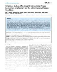Plos One : Cytokines Induced Neutrophil ... by Benarafa, Charaf