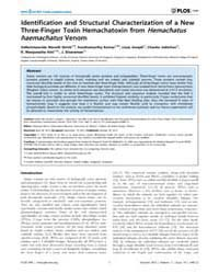 Plos One : Identification and Structural... by Bravo, Alejandra