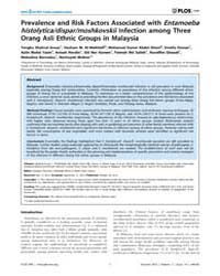 Plos One : Prevalence and Risk Factors A... by Snounou, Georges