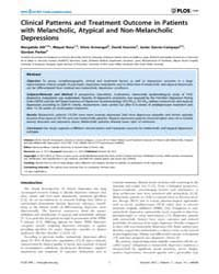 Plos One : Clinical Patterns and Treatme... by Mazza, Marianna