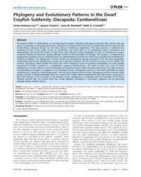 Plos One : Phylogeny and Evolutionary Pa... by Castresana, Jose