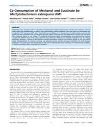 Plos One : Co-consumption of Methanol an... by Du, Chenyu
