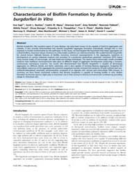 Plos One : Characterization of Biofilm F... by Forestier, Christiane