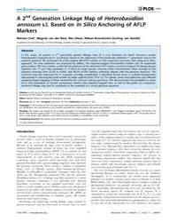 Plos One : a 2Nd Generation Linkage Map ... by Moore, Stephen