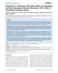 Plos One : Disparities in Healthcare Uti... by Beck, Eduard J.