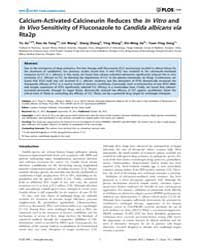Plos One : Calcium-activated-calcineurin... by Goldman, Gustavo Henrique