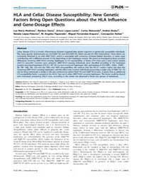 Plos One : Hla and Celiac Disease Suscep... by Pietropaolo, Massimo