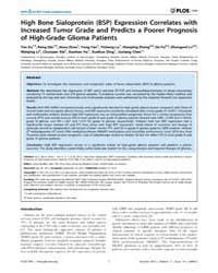 Plos One : High Bone Sialoprotein Bsp Ex... by Elder, James, Bradley