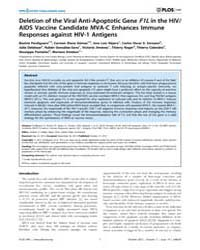 Plos One : Deletion of the Viral Anti-ap... by Badley, Andrew D.