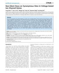 Plos One : Non-silent Story on Synonymou... by Uversky, Vladimir N.
