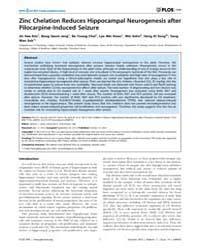 Plos One : Zinc Chelation Reduces Hippoc... by Sensi, Stefano L.