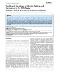 Plos One : the Neural Correlates of Iden... by Greenlee, Mark W.