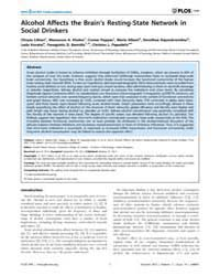 Plos One : Alcohol Affects the Brain's R... by Barnes, Gareth, Robert