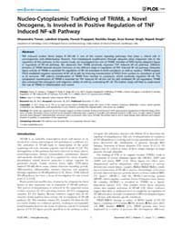 Plos One : Nucleo-cytoplasmic Traffickin... by Viola, Joao P. B.
