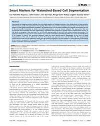 Plos One : Smart Markers for Watershed-b... by Metze, Konradin