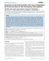Plos One : Expression at the Imprinted D... by Tear, Guy