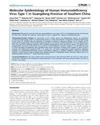 Plos One : Molecular Epidemiology of Hum... by Chiyu Zhang
