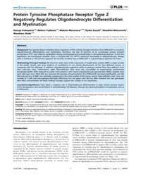 Plos One : Protein Tyrosine Phosphatase ... by Meuth, Sven G.