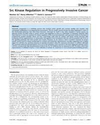 Plos One : Src Kinase Regulation in Prog... by Culig, Zoran