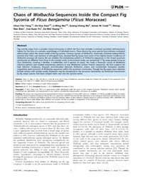 Plos One : Chaos of Wolbachia Sequences ... by Hughes, William