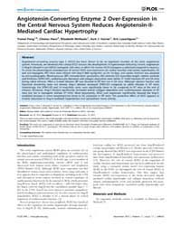 Plos One : Angiotensin-converting Enzyme... by Bader, Michael