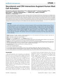 Plos One : Neurotensin and Crh Interacti... by Doherty, T. Mark
