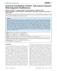 Plos One : Lentiviral Transduction of Cd... by Wagner, Wolfgang